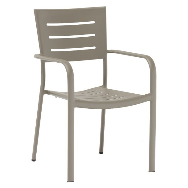 Aluminum Stacking Patio Dining Chair by H&D Restaurant Supply Inc.