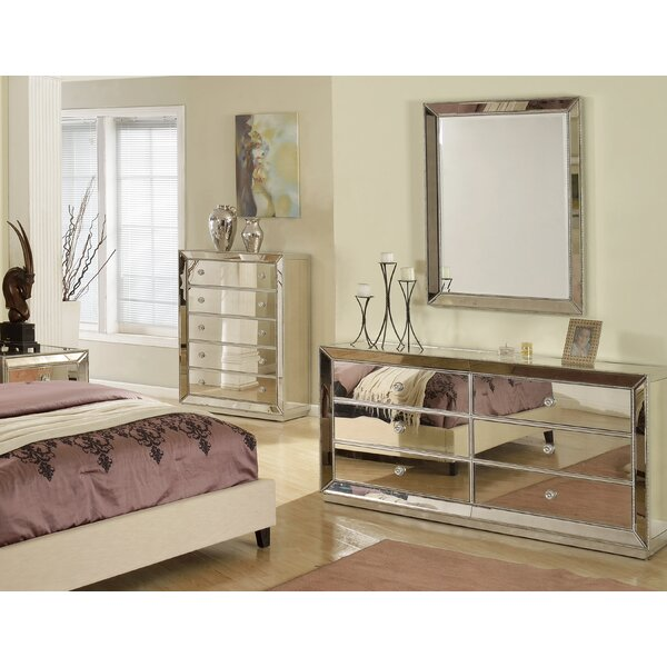 Wolak 6 Drawer Double Dresser With Mirror By Rosdorf Park by Rosdorf Park Great Reviews