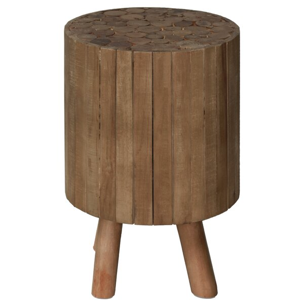 Pembroke Round Drum Wood End Table by Union Rustic