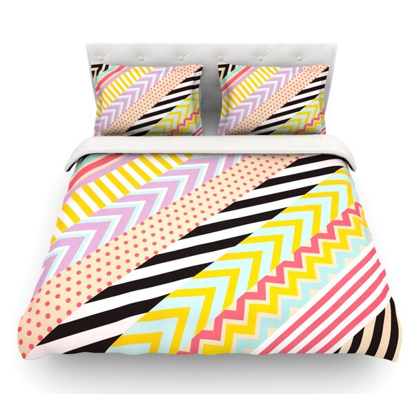 Diagonal Tape by Louise Machado Geometric Featherweight Duvet Cover by East Urban Home