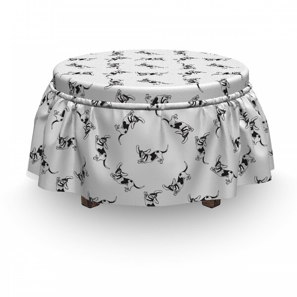 Shocked Long Eared Dog Ottoman Slipcover (Set Of 2) By East Urban Home