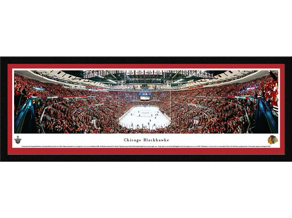 NHL Chicago Blackhawks - End Zone by James Blakeway Framed Photographic Print by Blakeway Worldwide Panoramas, Inc