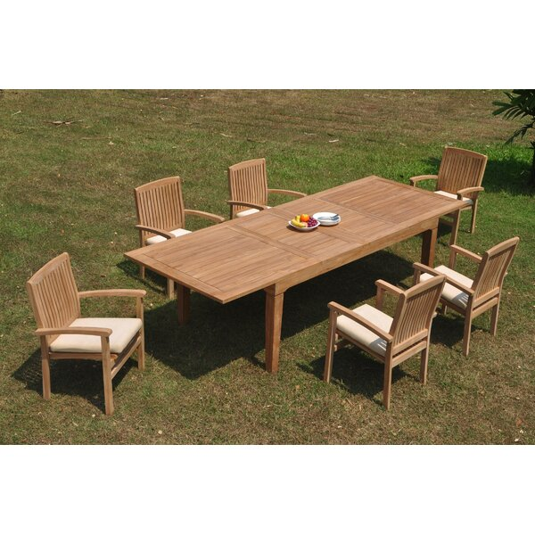 Rico 7 Piece Teak Dining Set by Rosecliff Heights