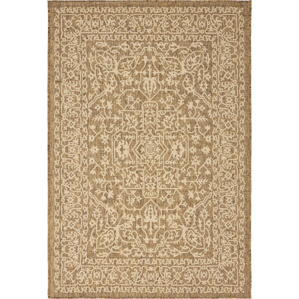 Kivett Brown Indoor/Outdoor Area Rug by Charlton Home Charlton Home