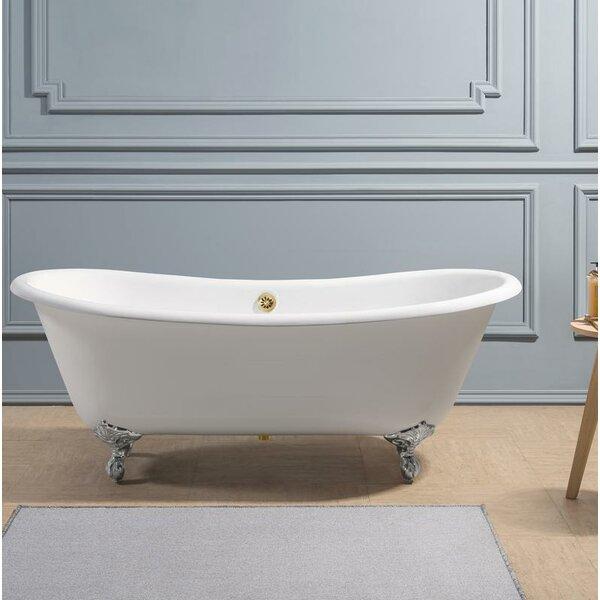 Cast Iron 71 x 32 Clawfoot Soaking Bathtub by Streamline Bath