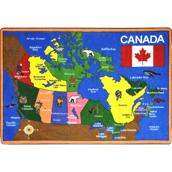 Map of Canada Area Rug by The Conestoga Trading Co.