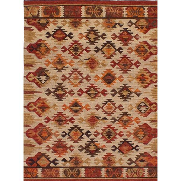 One-of-a-Kind Binne Handmade Wool Brown/Beige Area Rug by Isabelline