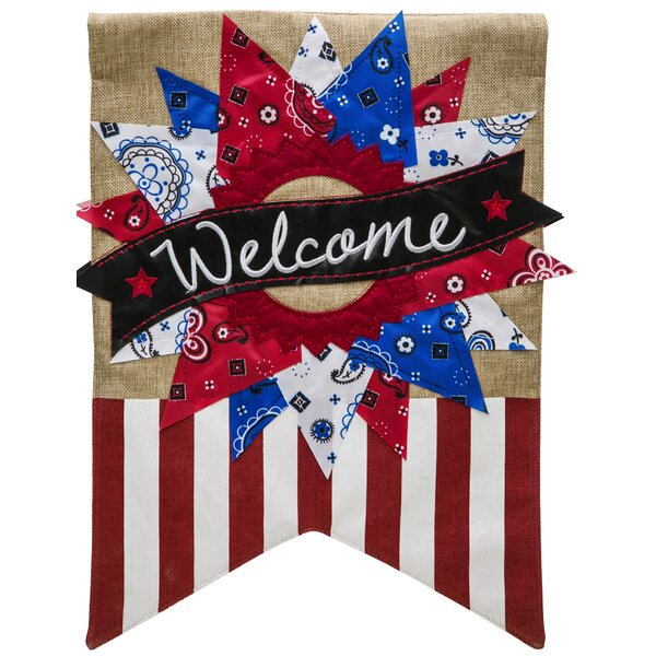 Patriotic Welcome Vertical Flag by Evergreen Enterprises, Inc