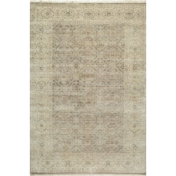 McDonough Hand-Hooked Taupe Area Rug by One Allium Way