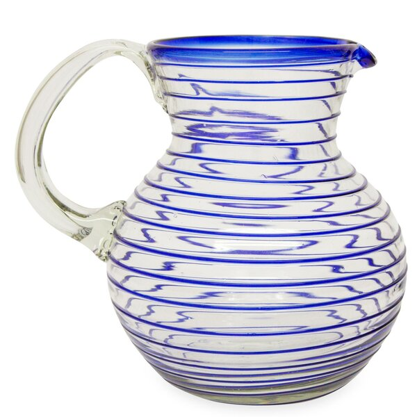 Spiral Web 71 oz. Pitcher by Novica