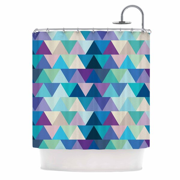 Draper Crystal Geometric Shower Curtain by East Urban Home