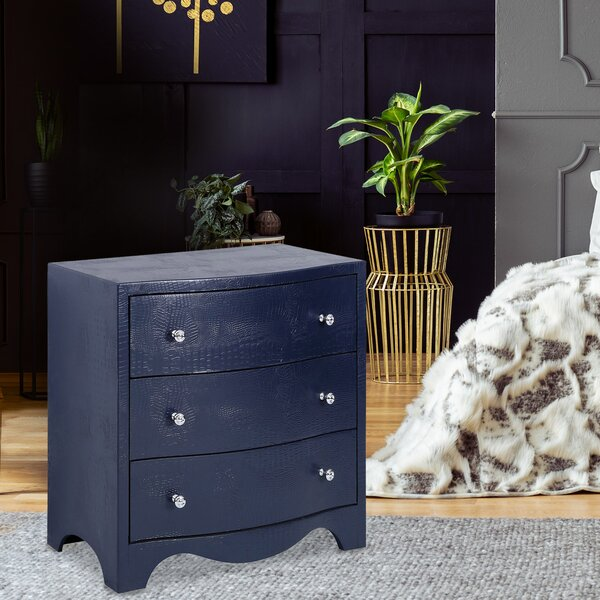 Flor 3 Drawer Nightstand by Everly Quinn