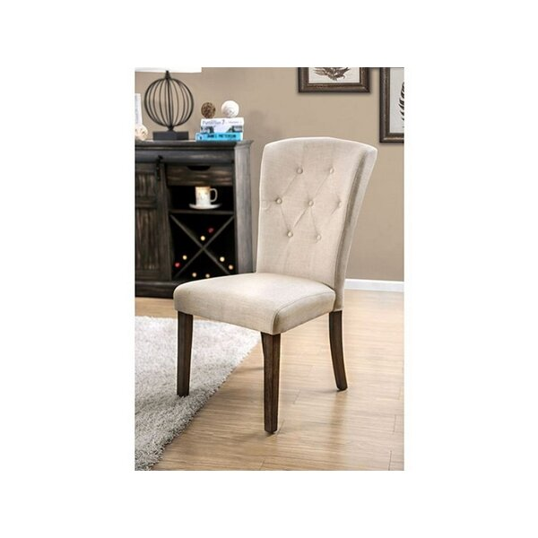 Ismail Linen Upholstered Parsons Chair In White (Set Of 2) By Gracie Oaks