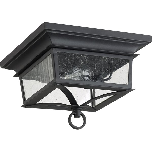 Bridport 2-Light Outdoor Flush Mount by Canora Gre