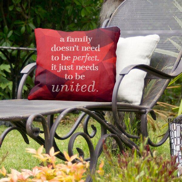 Family Love Indoor/Outdoor Throw Pillow