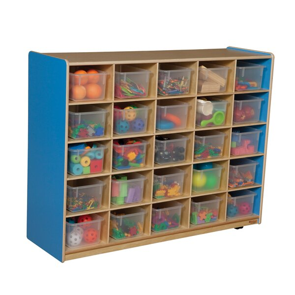 25 Compartment Cubby with Casters by Wood Designs