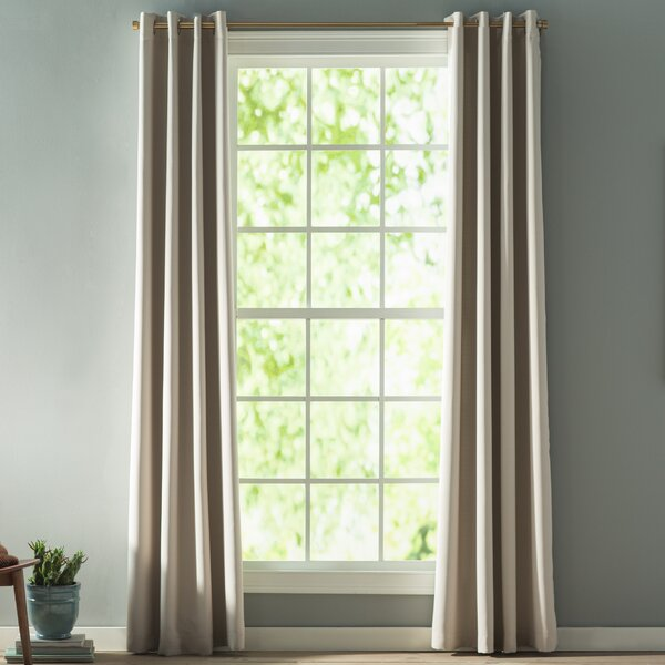 Marnie Solid Blackout Thermal Grommet Curtain Panels (Set of 2) by Langley Street
