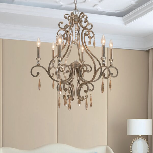 Avon 6 - Light Candle Style Empire Chandelier With Crystal Accents By Astoria Grand