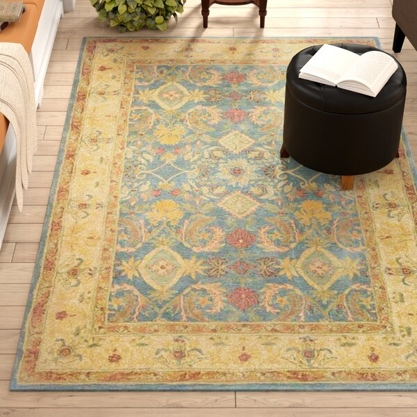 Pritchard Blue Area Rug by Three Posts