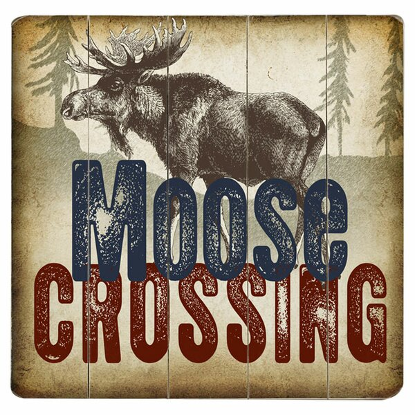 Moose Crossing Graphic Art Print Multi-Piece Image on Wood by Artehouse LLC