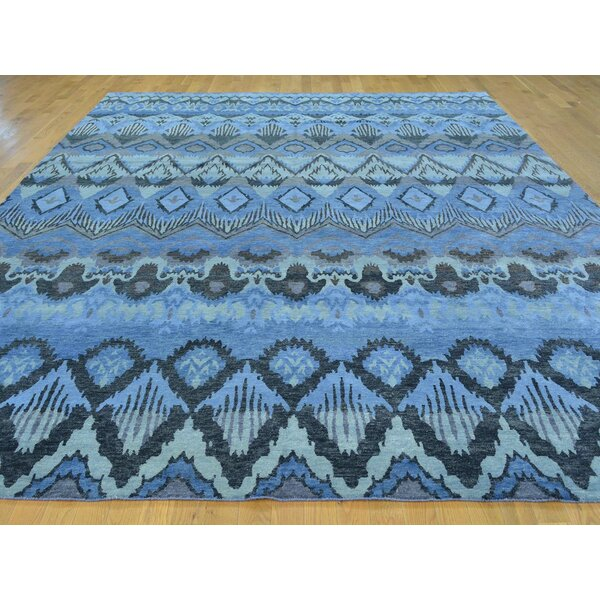 One-of-a-Kind Beltran Ikat Uzbek Design Hand-Knotted Wool Area Rug by Isabelline