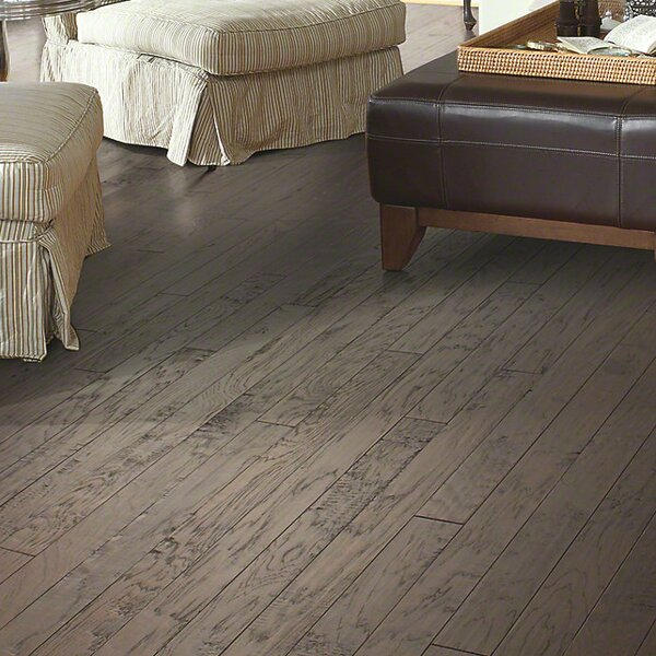 3-1/4 Engineered Hickory Hardwood Flooring in Charcoal by Welles Hardwood