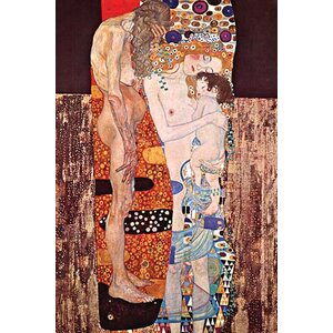 'The 3 Ages of a Woman' by Gustav Klimt Painting Print by Buyenlarge