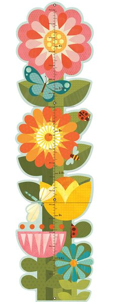 Garden Flowers Folding Growth Chart by Petit Collage