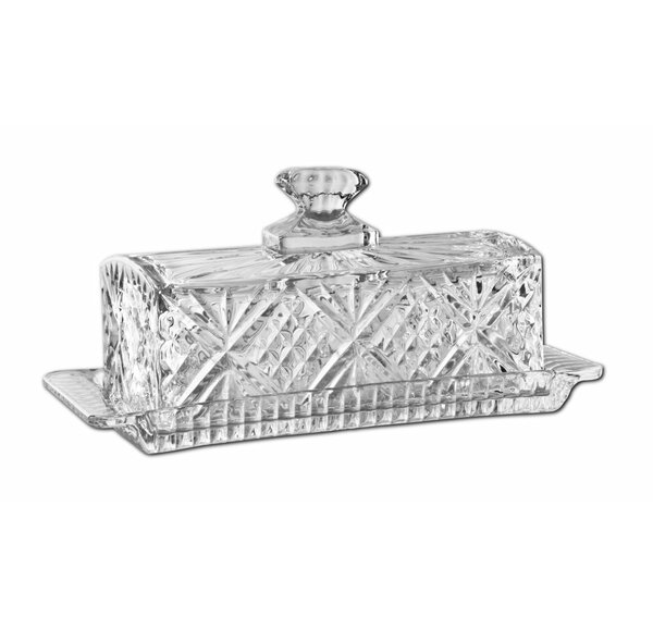 Crystal Covered Butter Platter (Set of 2) by James Scott