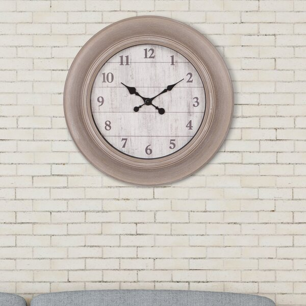 Oversized Fruitvale 24 Wall Clock by Ophelia & Co.