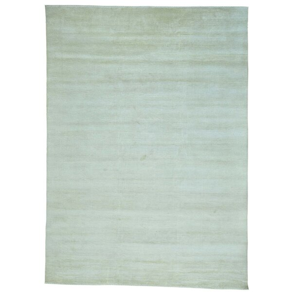 One-of-a-Kind Tone on Tone Nepali Hand-Knotted Beige Area Rug by One Allium Way