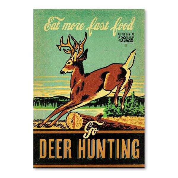 Fast Food Deer Hunting Vintage Advertisement by East Urban Home