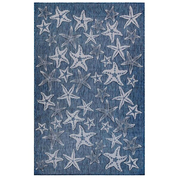 Desantiago Starfish Navy Indoor/Outdoor Area Rug by Highland Dunes