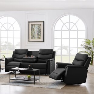 Claranell 2 Piece Faux Leather Reclining Living Room Set by Latitude Run®