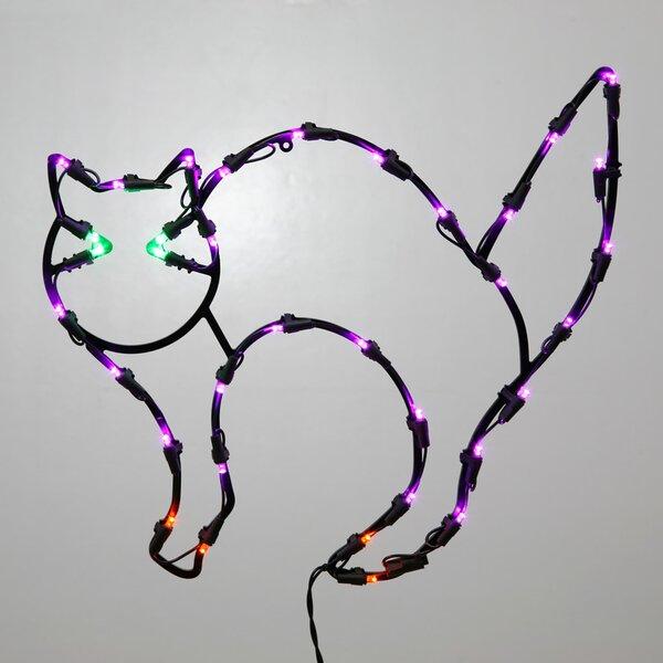 35Lt Fall Decor 35Lt LED Cat Window Décor by Vickerman35Lt Fall Decor 35Lt LED Cat Window Décor by Vickerman