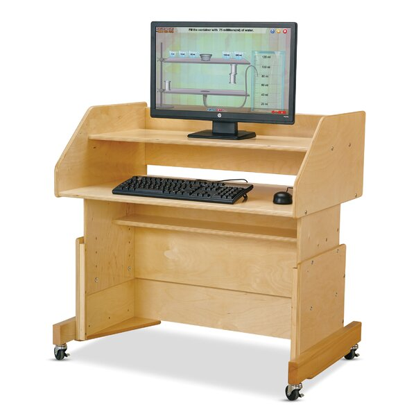 Columbia Manufactured Wood Adjustable Height Student Computer Desk by Jonti-Craft