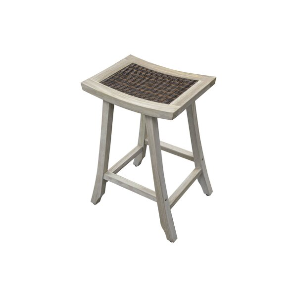 Satori Coastal Vogue 30 Teak Patio Bar Stool by EcoDecors