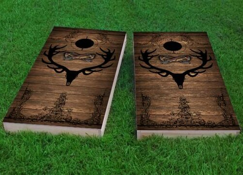Elk Hunter Cornhole Game (Set of 2) by Custom Cornhole Boards