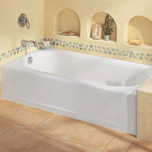 Princeton 60 x 34 Above Floor Luxury Ledge Americast Recessed Soaking Bathtub by American Standard