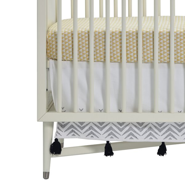 Zebra Embroidered Crib Skirt by DwellStudio