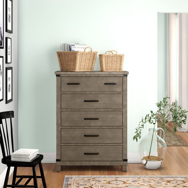 Brodnax 5 Drawer Chest by Three Posts