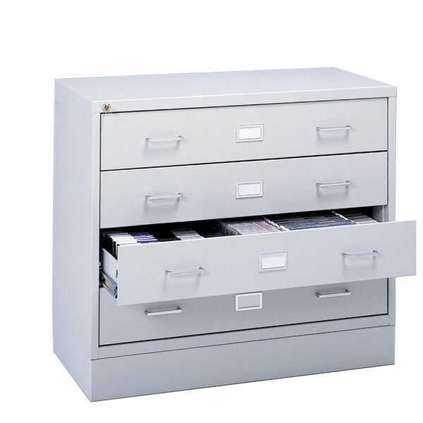 Four Drawer A V Microform Storage Cabinet By Safco Products Company.