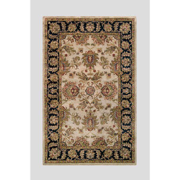 Harmony Beige/Black Floral Area Rug by Noble House