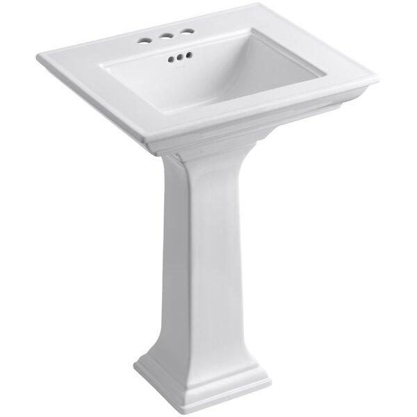 Memoirs® Ceramic 25 Pedestal Bathroom Sink with Overflow by Kohler