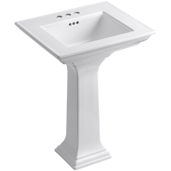Memoirs® Ceramic 25 Pedestal Bathroom Sink with Overflow by Kohler