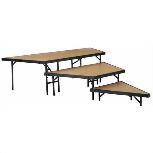 Stage Pie Riser Set in Hardboard by National Public Seating