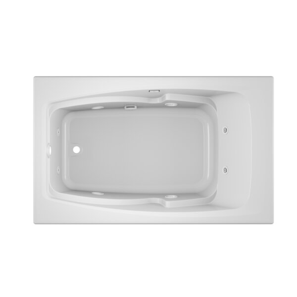 Cetra Left-Hand 60 x 36 Drop in Whirlpool Bathtub by Jacuzzi®