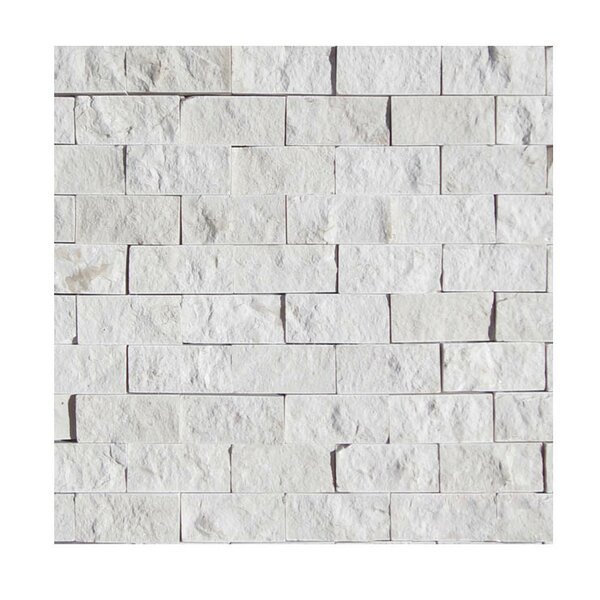 1 x 2 Natural Stone Mosaic Splitface Tile in Freska by QDI Surfaces
