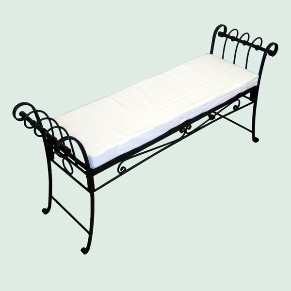 Scroll Iron Garden Bench by Pangaea Home and Garden