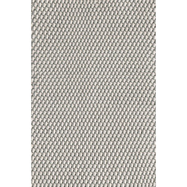 Two-Tone Rope Geometric Hand-Woven Platinum/Ivory Indoor / Outdoor Area Rug